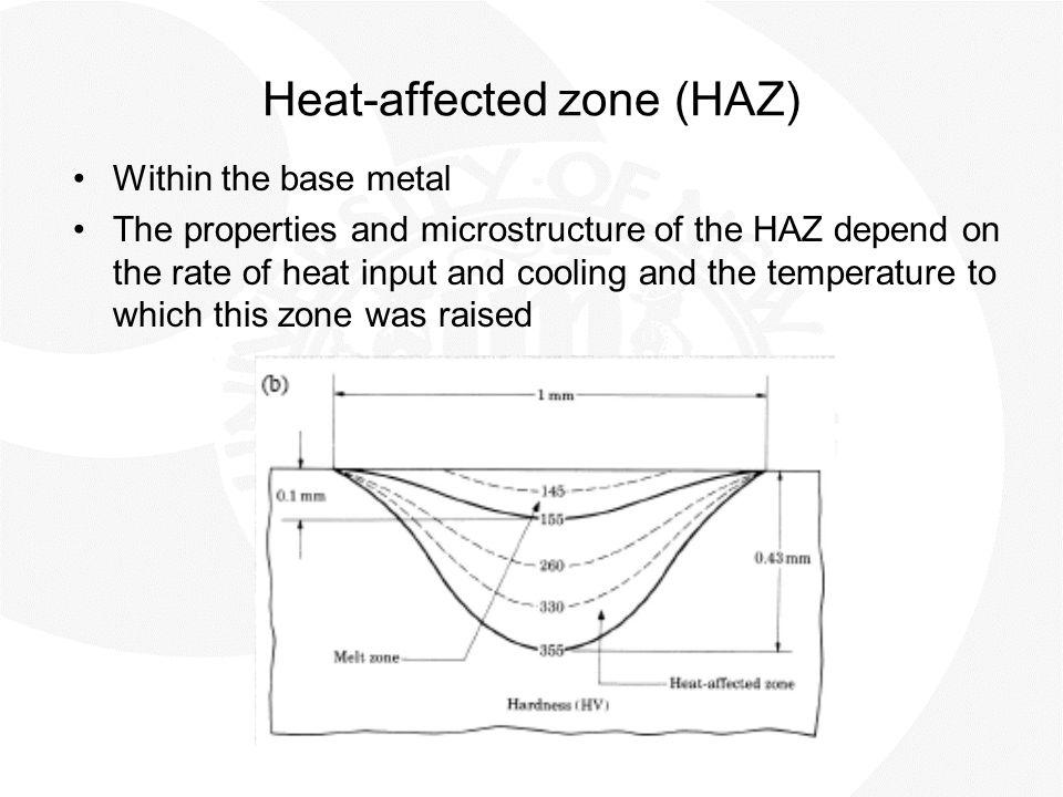 Heat-affected zone (HAZ)