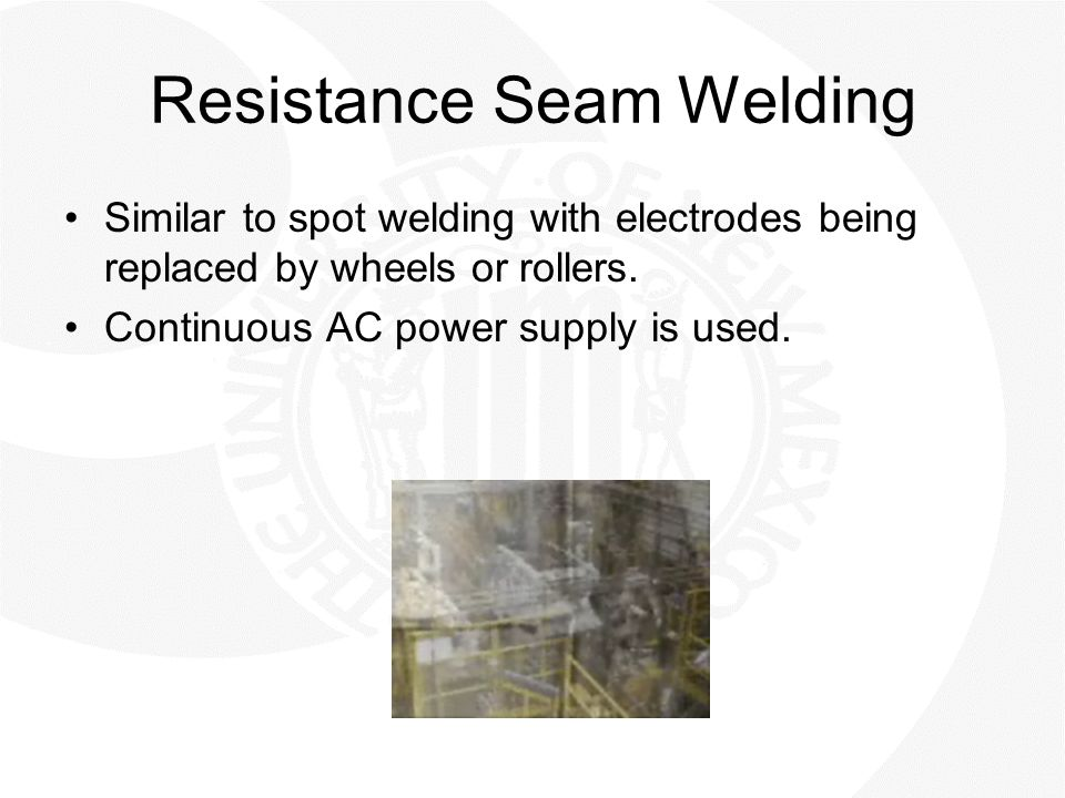Resistance Seam Welding