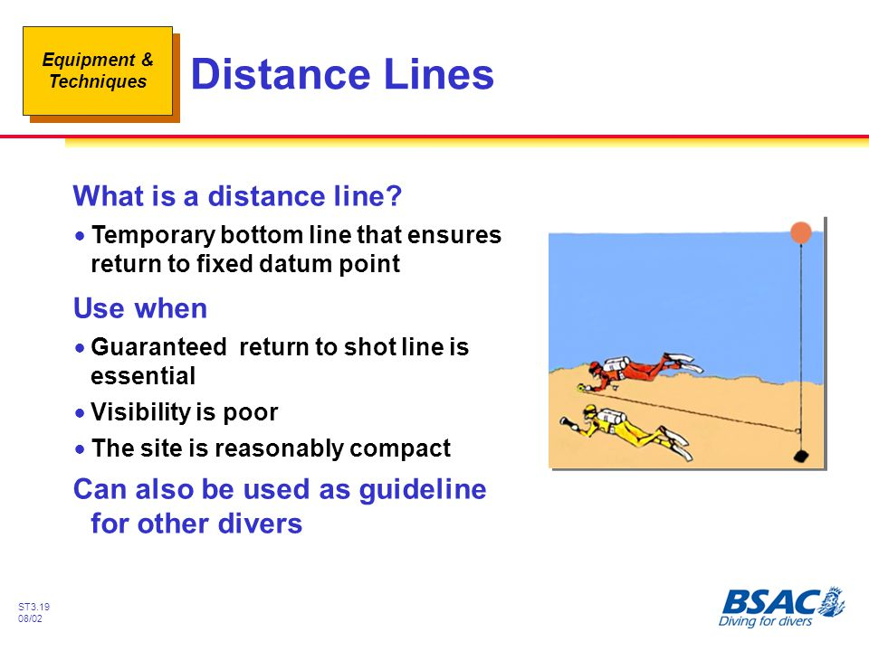 Distance Lines What is a distance line Use when