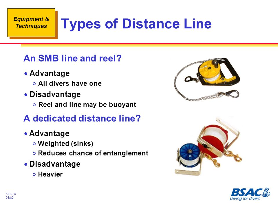 Types of Distance Line An SMB line and reel