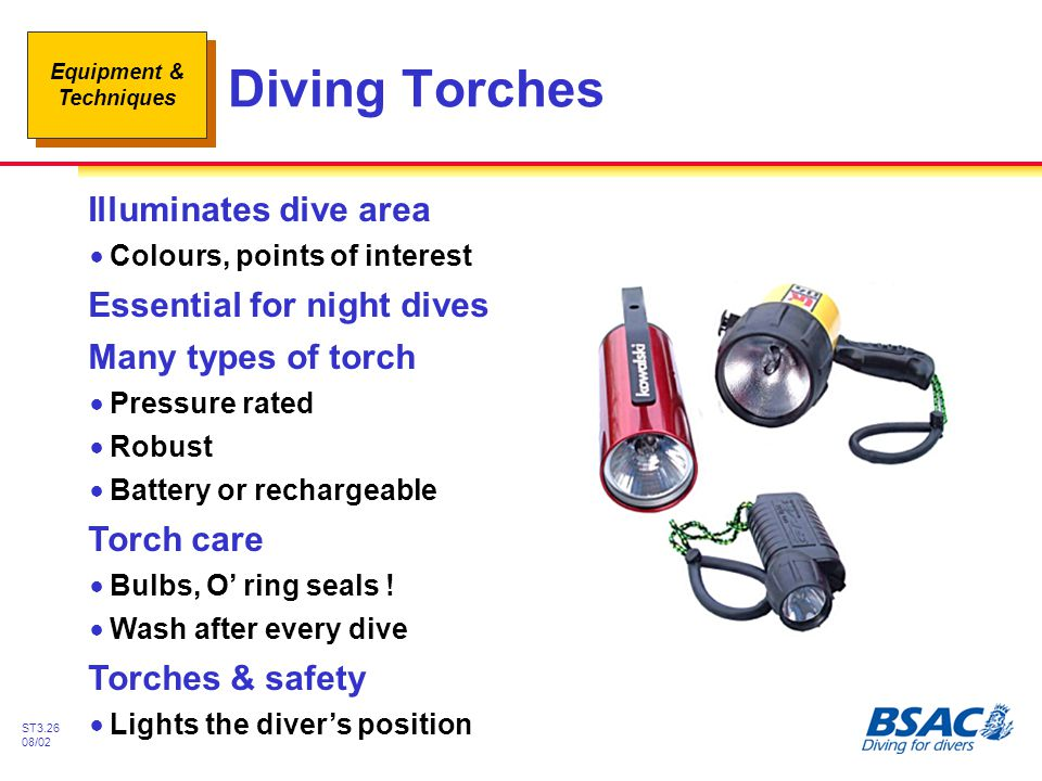 Diving Torches Illuminates dive area Essential for night dives