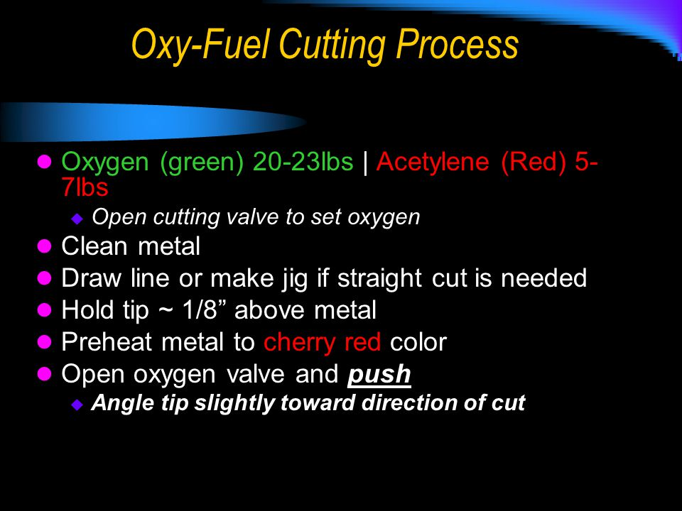 Oxy-Fuel Cutting Process