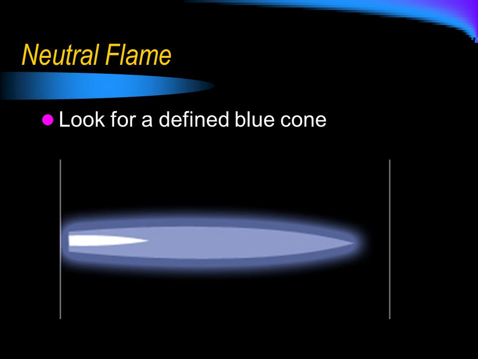 Neutral Flame Look for a defined blue cone