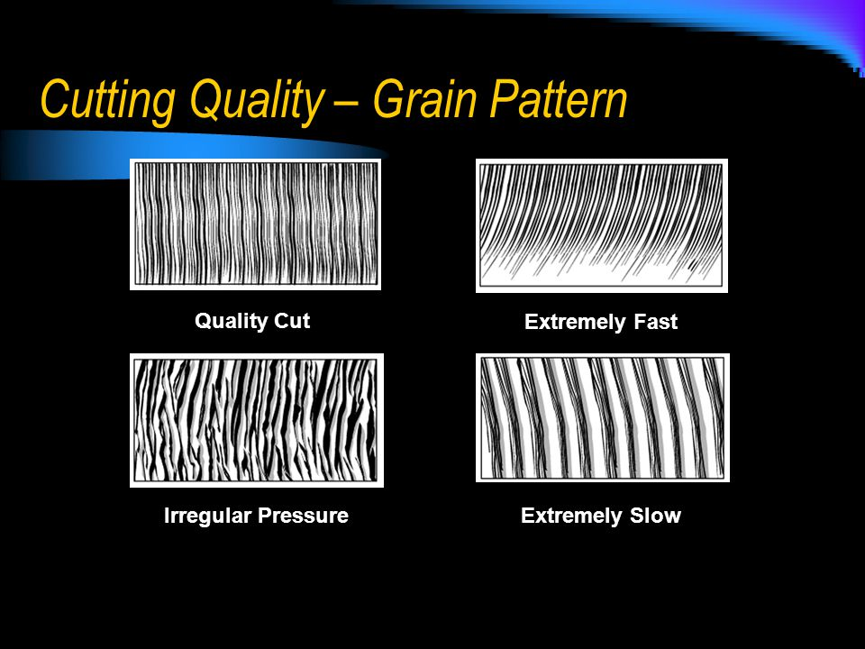 Cutting Quality – Grain Pattern