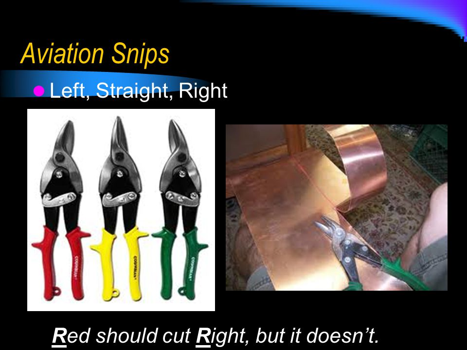 Aviation Snips Left, Straight, Right