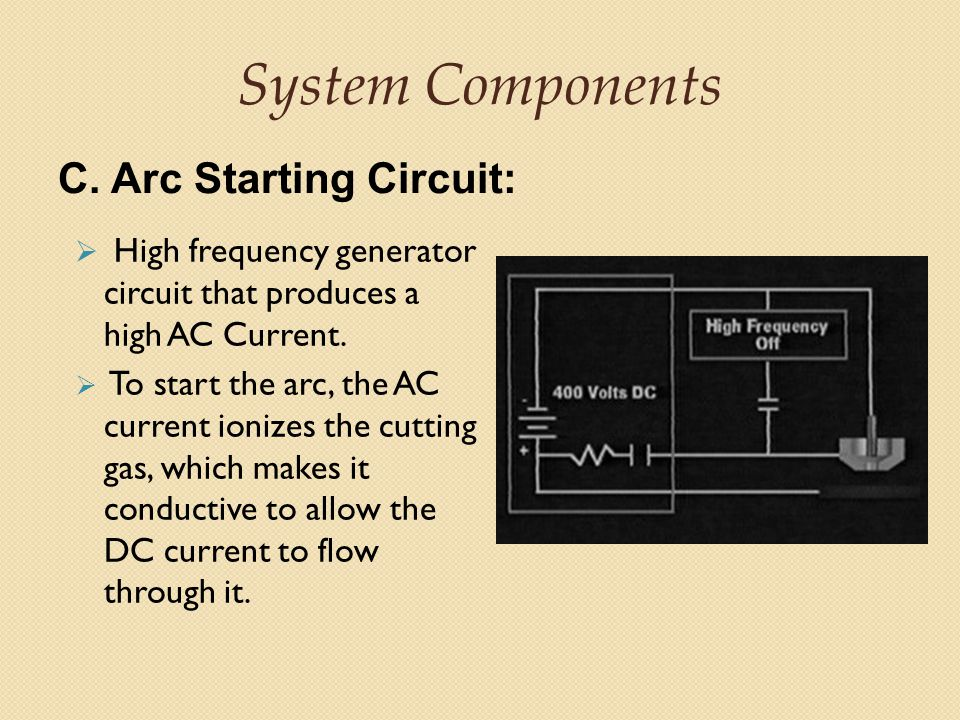 System Components C. Arc Starting Circuit: