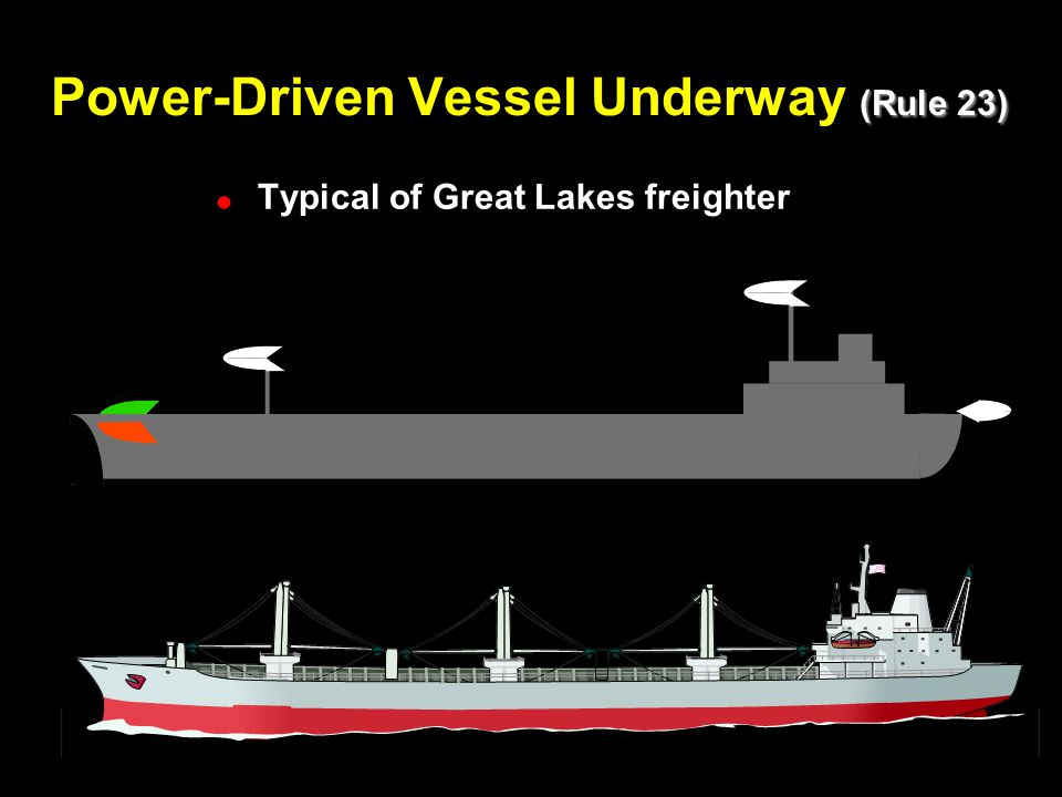 Power-Driven Vessel Underway (Rule 23)