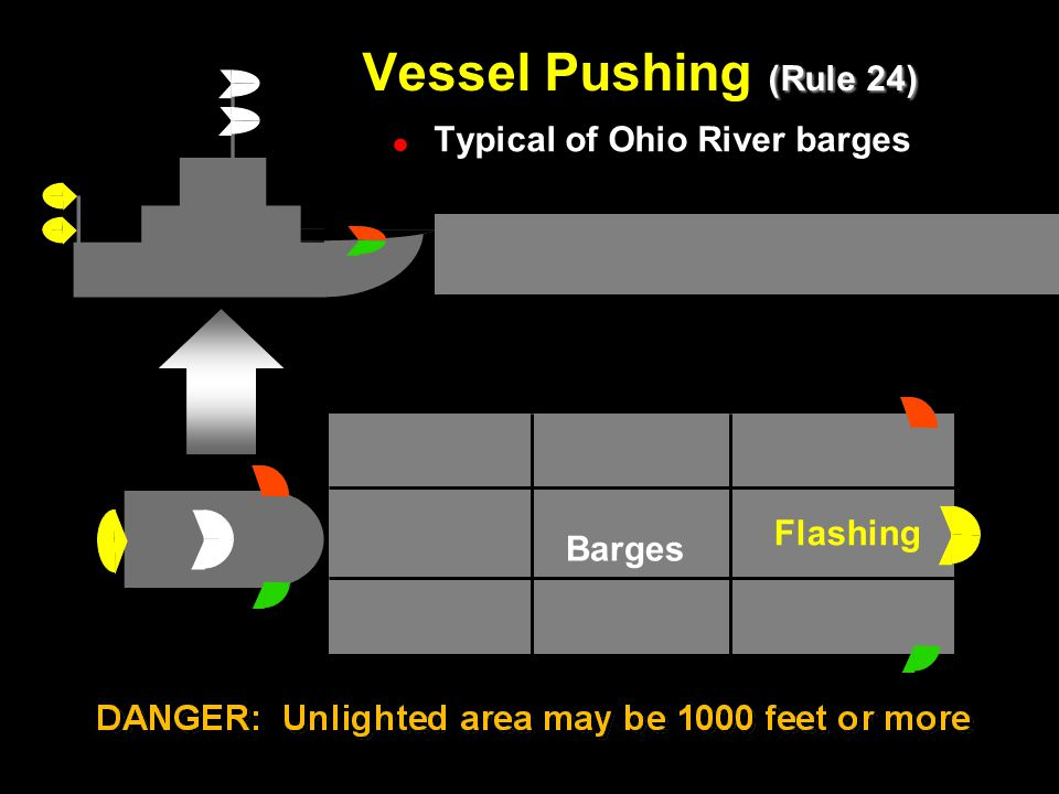 Vessel Pushing (Rule 24) Vessel Pushing Typical of Ohio River barges