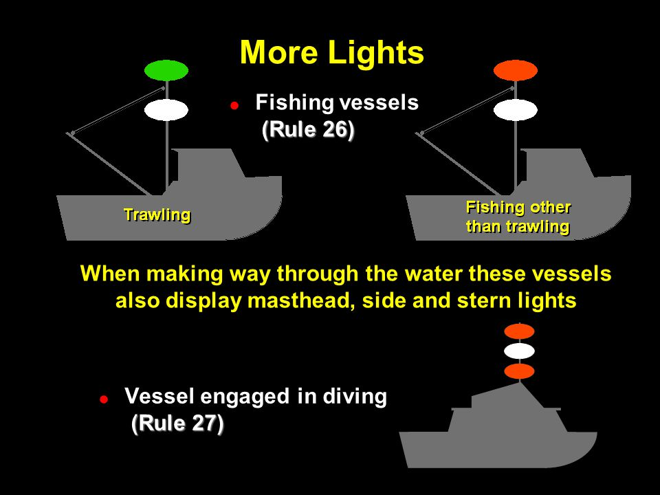 More Lights More Lights Fishing vessels (Rule 26)