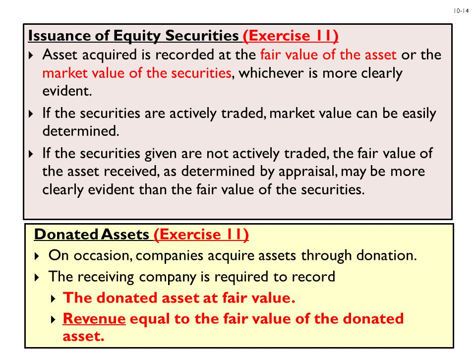 Issuance of Equity Securities (Exercise 11)