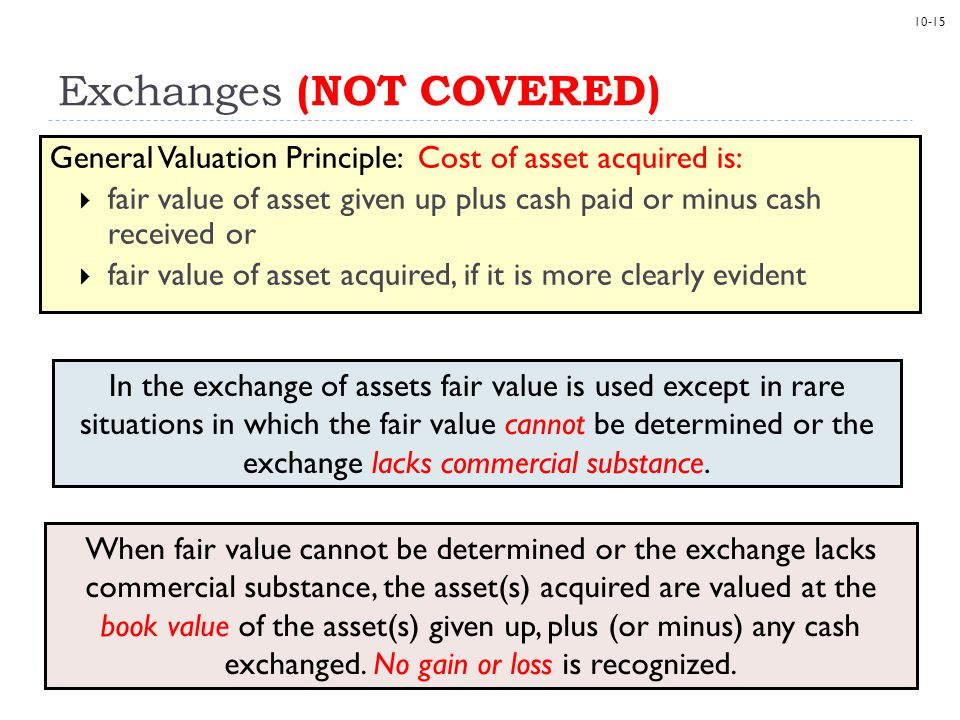 Exchanges (NOT COVERED)