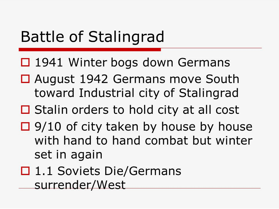 Battle of Stalingrad 1941 Winter bogs down Germans