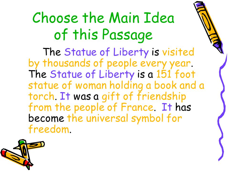 Choose the Main Idea of this Passage