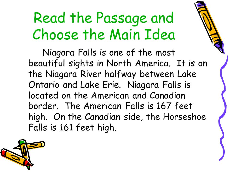 Read the Passage and Choose the Main Idea