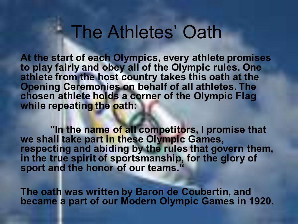 The Athletes' Oath