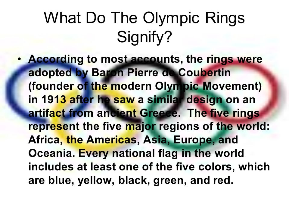 What Do The Olympic Rings Signify