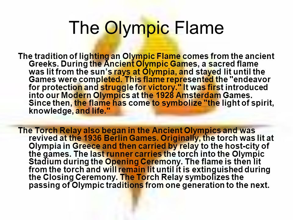 The Olympic Flame