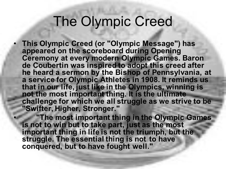 The Olympic Creed