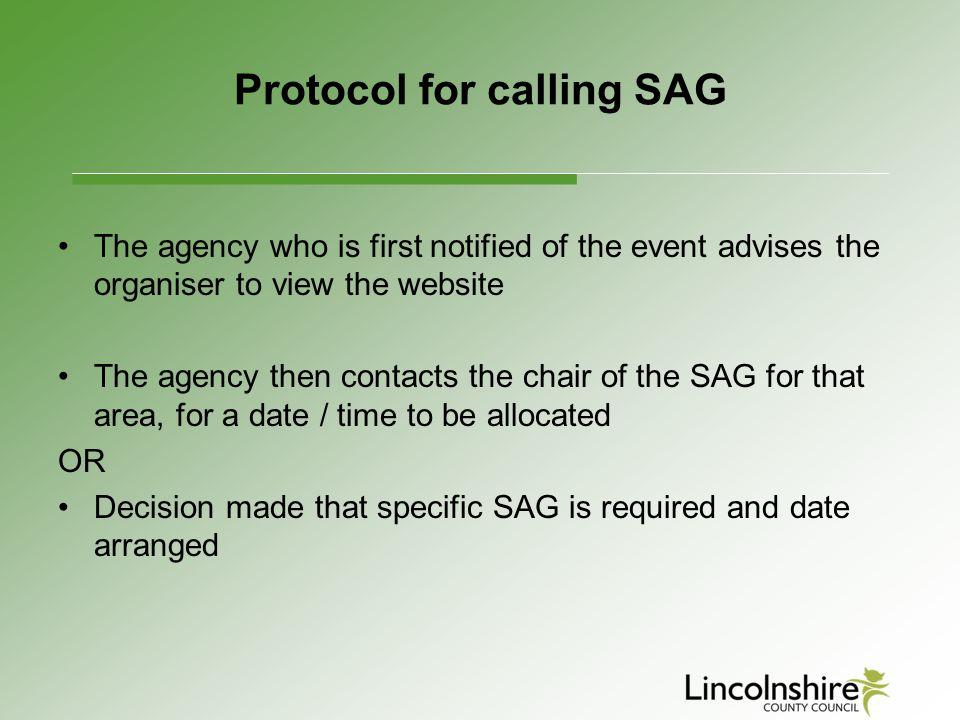 Protocol for calling SAG