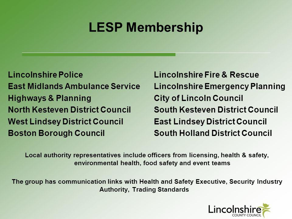 LESP Membership Lincolnshire Police Lincolnshire Fire & Rescue