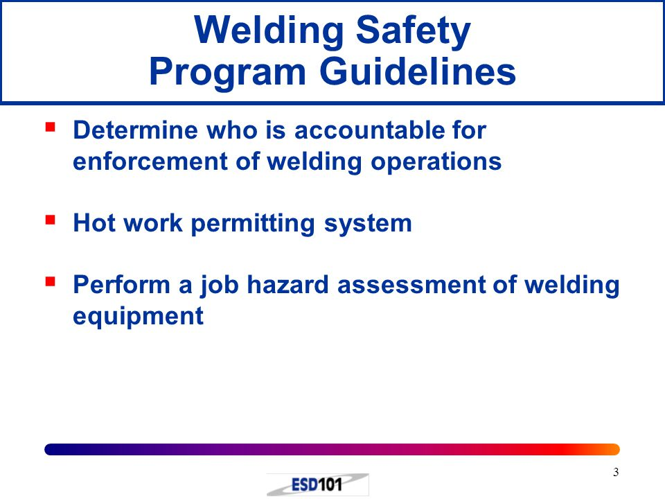 Welding Safety Program Guidelines