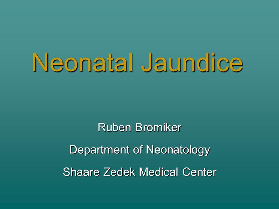 Ruben Bromiker Department of Neonatology Shaare Zedek Medical Center