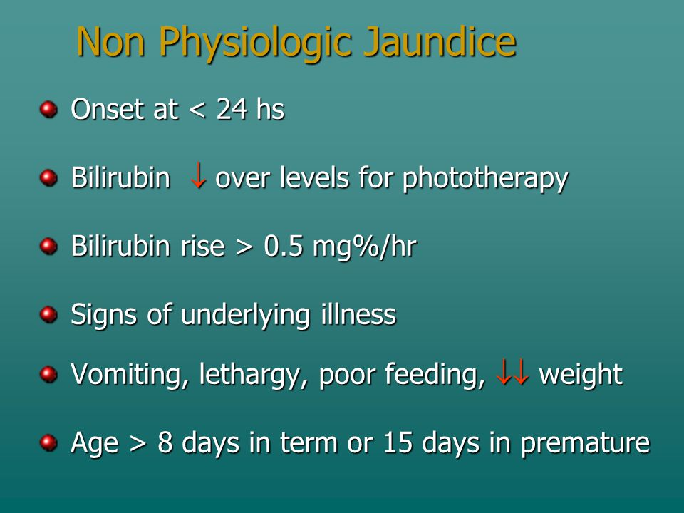 Non Physiologic Jaundice