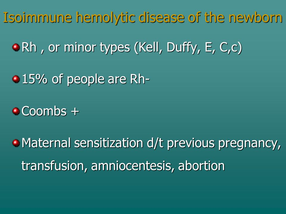 Isoimmune hemolytic disease of the newborn
