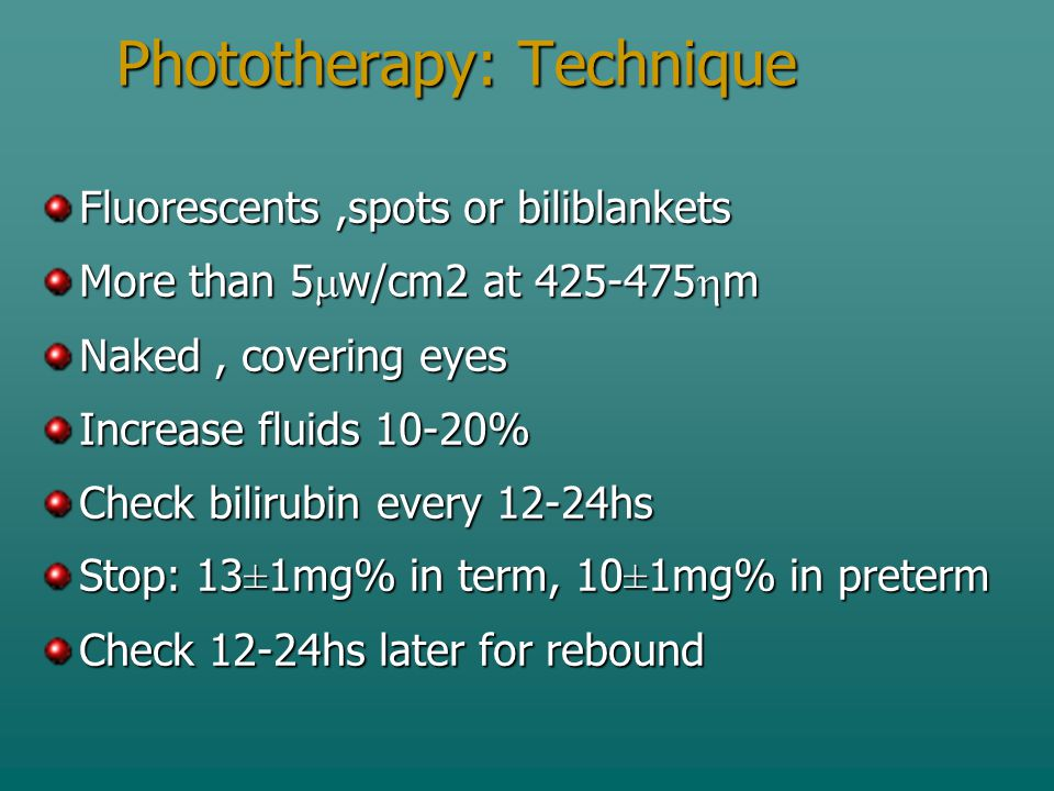 Phototherapy: Technique