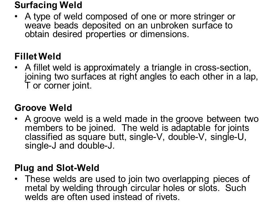 Surfacing Weld