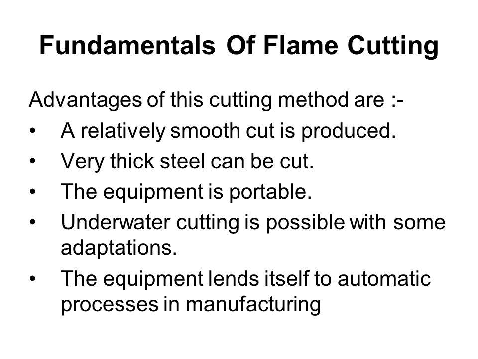 Fundamentals Of Flame Cutting