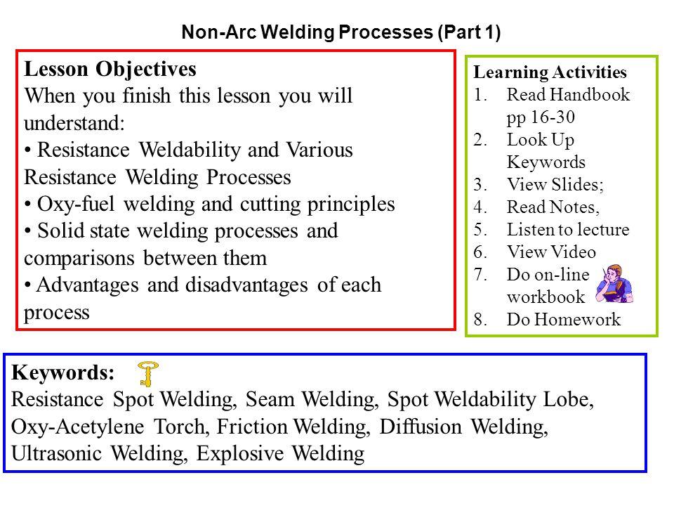 Non-Arc Welding Processes (Part 1)