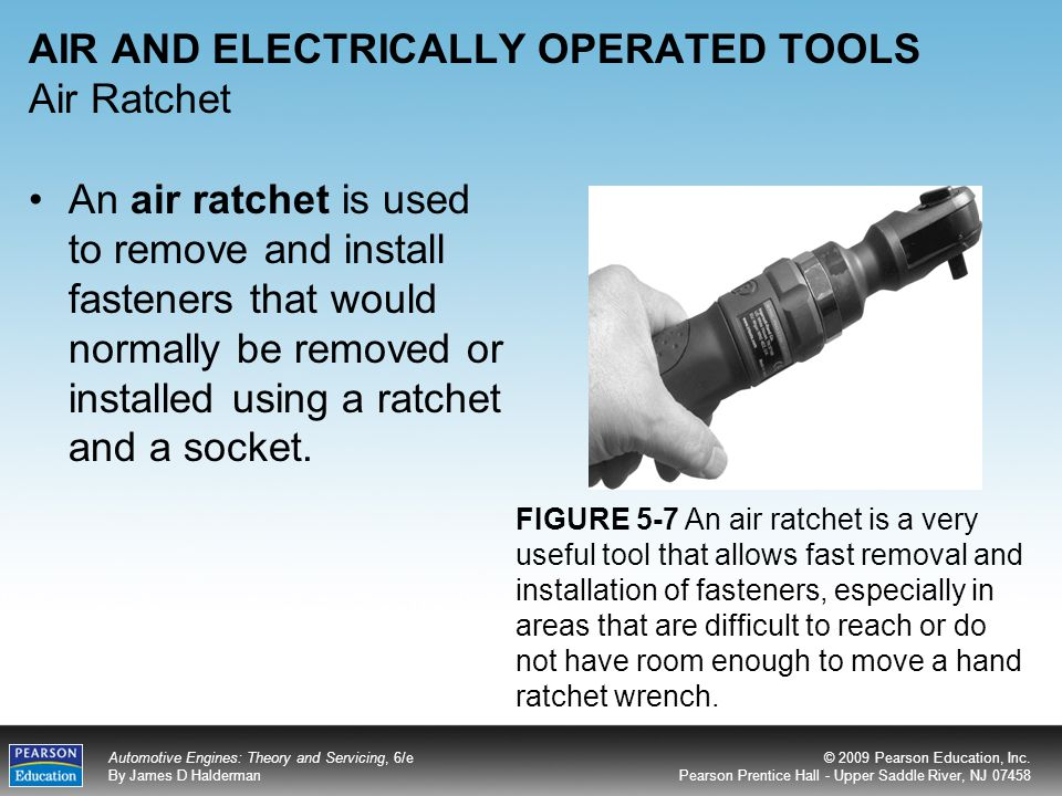 AIR AND ELECTRICALLY OPERATED TOOLS Air Ratchet
