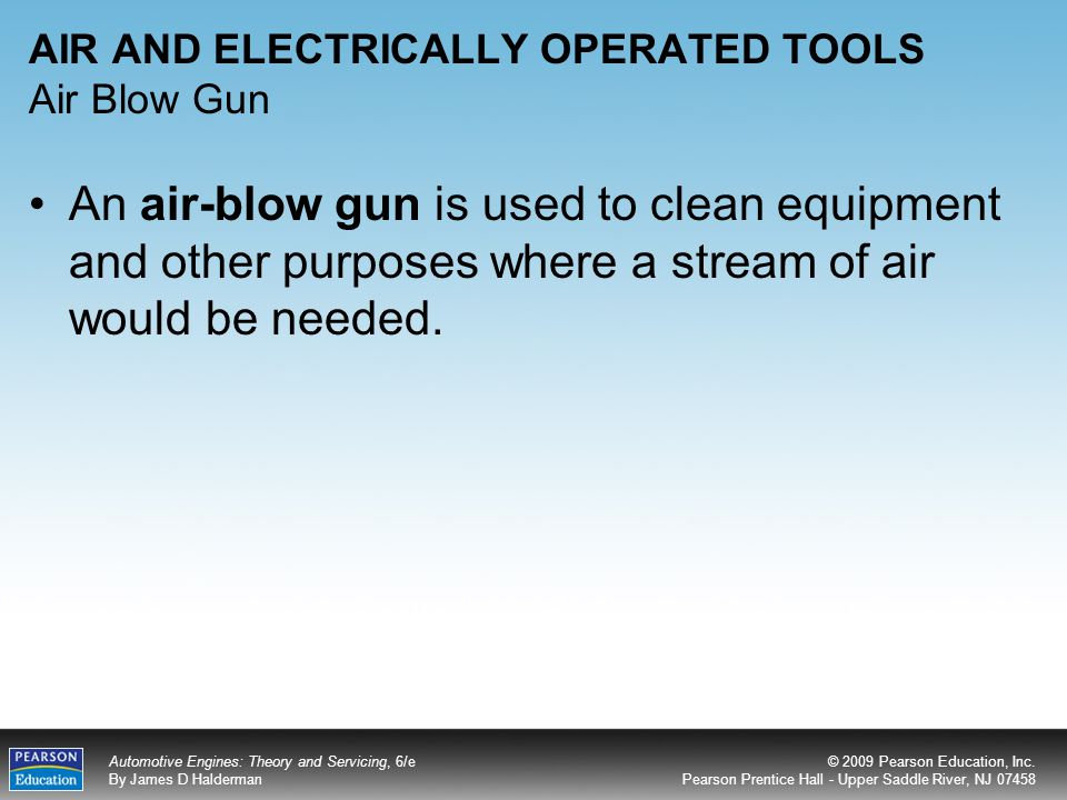 AIR AND ELECTRICALLY OPERATED TOOLS Air Blow Gun