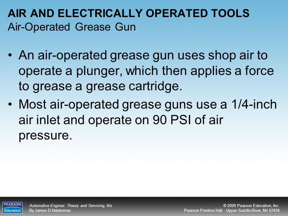 AIR AND ELECTRICALLY OPERATED TOOLS Air-Operated Grease Gun