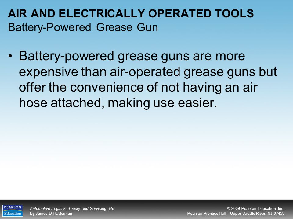 AIR AND ELECTRICALLY OPERATED TOOLS Battery-Powered Grease Gun