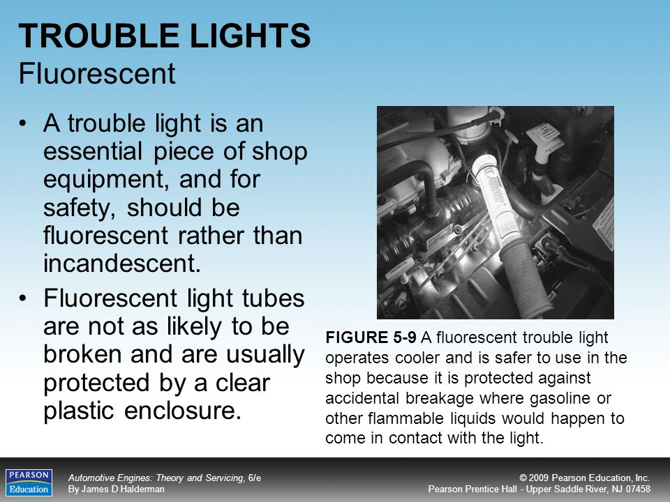 TROUBLE LIGHTS Fluorescent