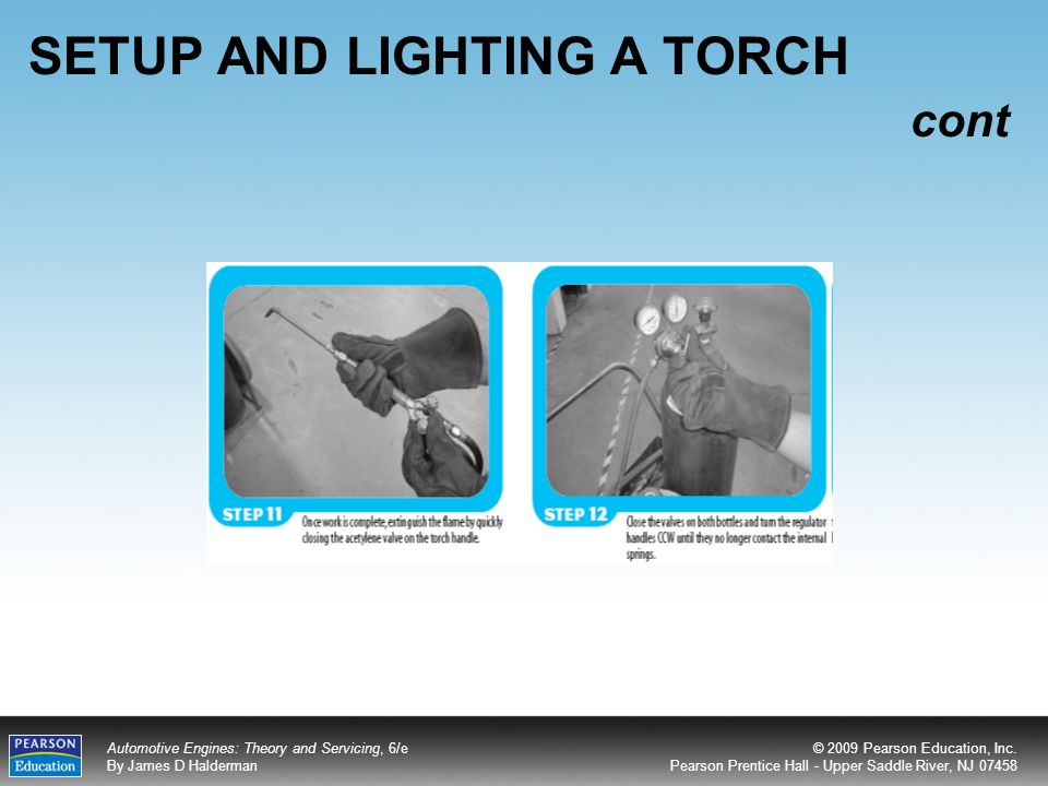 SETUP AND LIGHTING A TORCH cont
