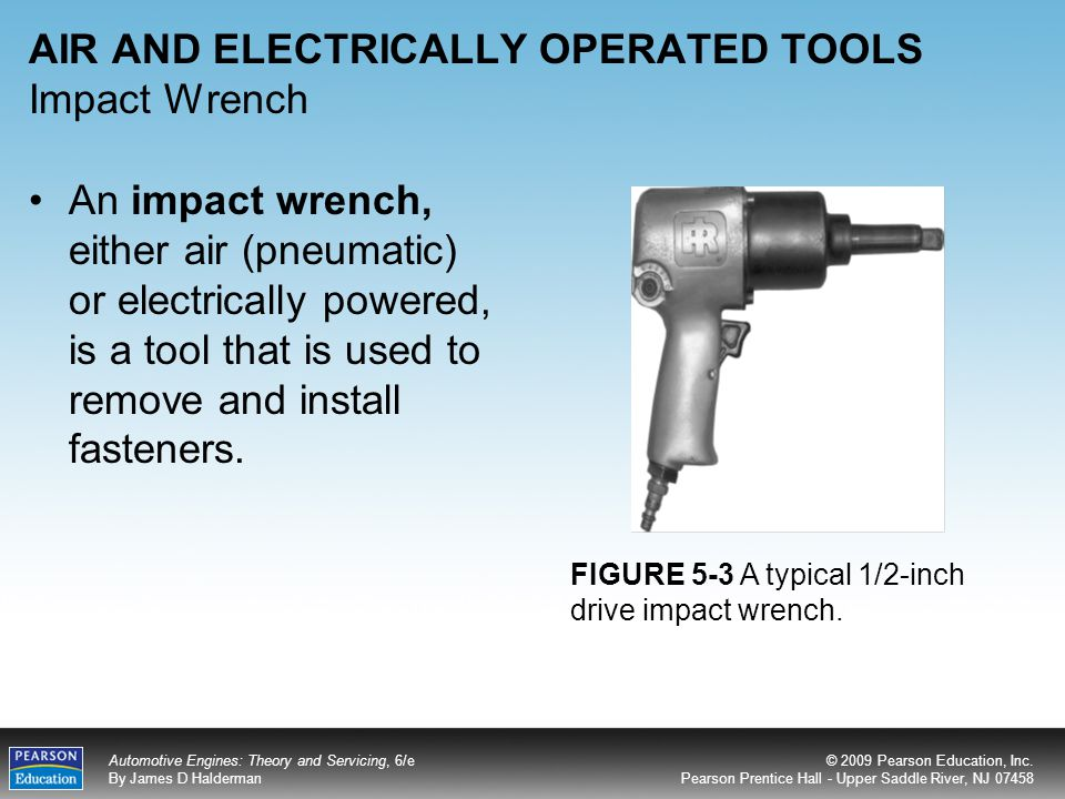 AIR AND ELECTRICALLY OPERATED TOOLS Impact Wrench