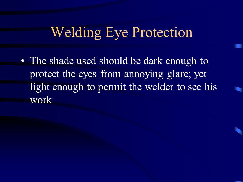 Welding Eye Protection