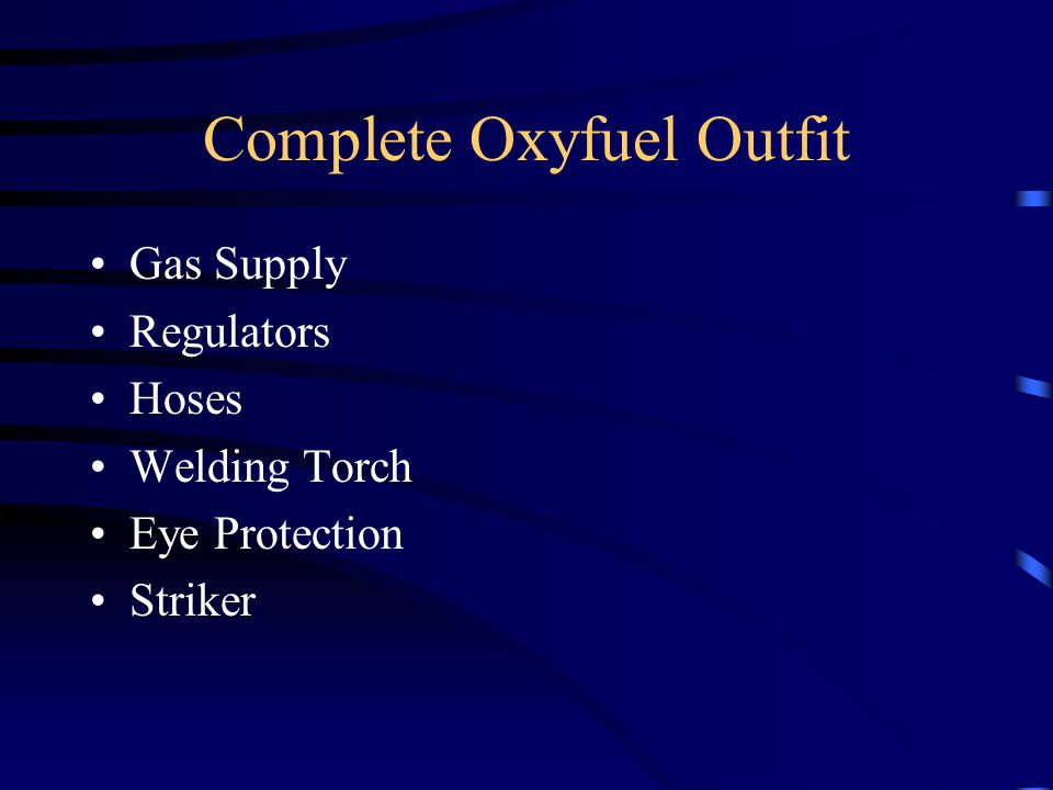 Complete Oxyfuel Outfit