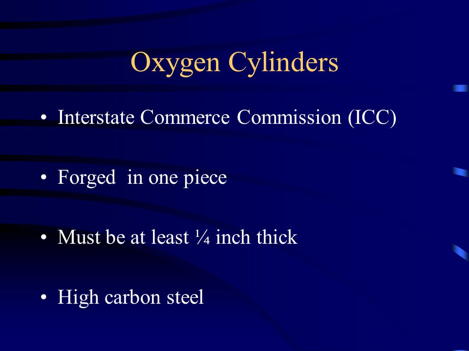 Oxygen Cylinders Interstate Commerce Commission (ICC)
