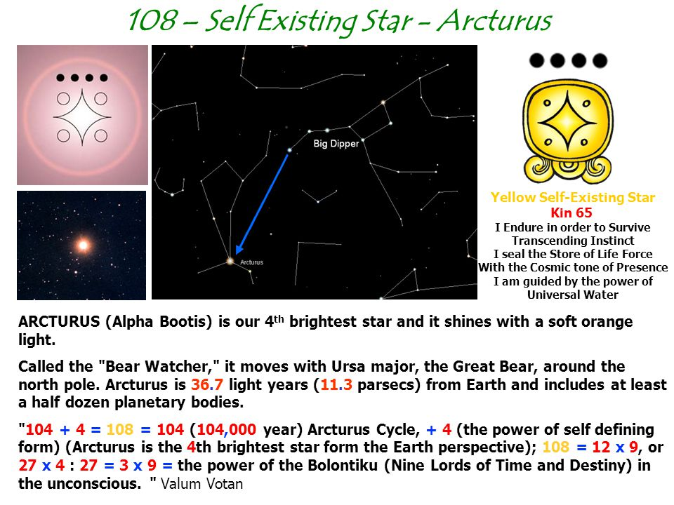 108 – Self Existing Star - Arcturus Yellow Self-Existing Star