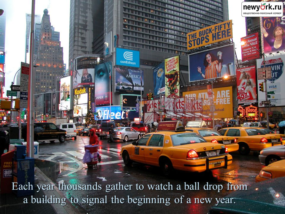 Each year thousands gather to watch a ball drop from a building to signal the beginning of a new year.