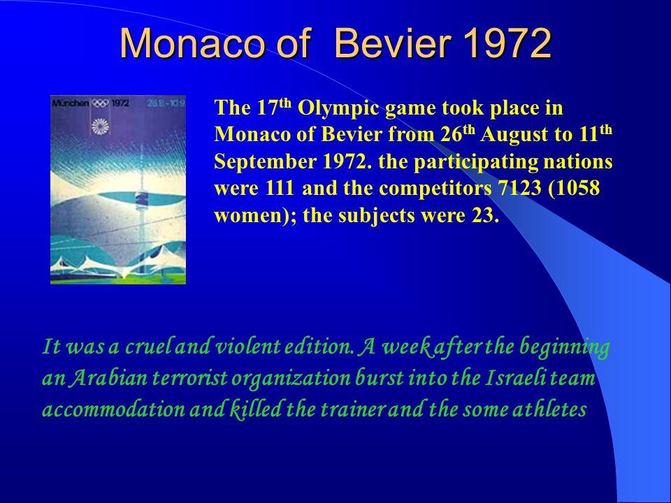 Monaco of Bevier 1972