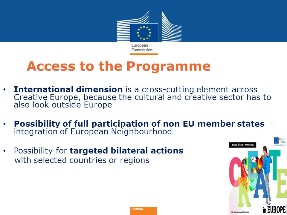 Access to the Programme