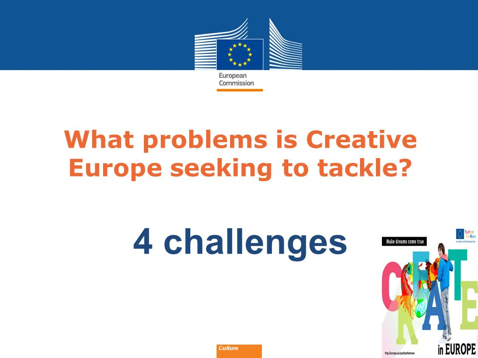 What problems is Creative Europe seeking to tackle