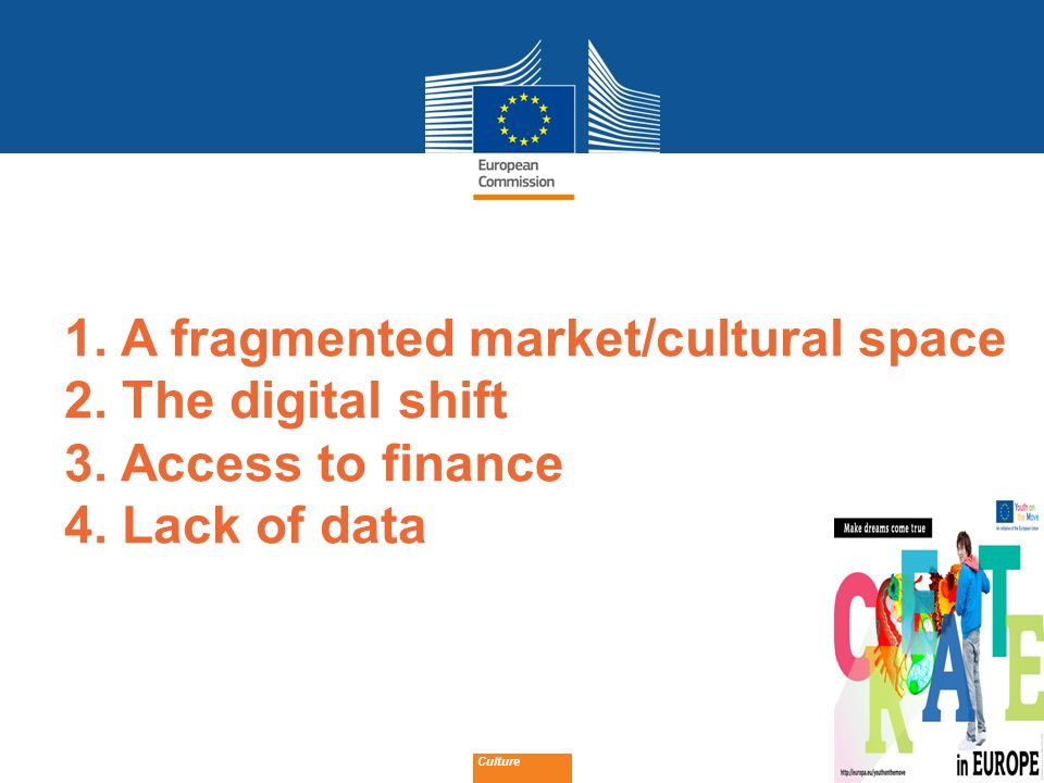 1. A fragmented market/cultural space 2. The digital shift 3