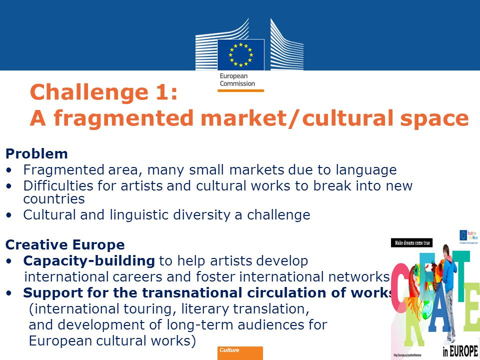 Challenge 1: A fragmented market/cultural space