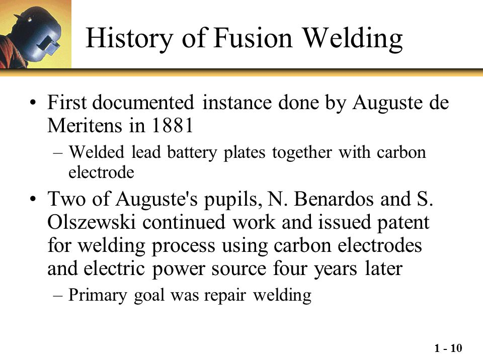 History of Fusion Welding